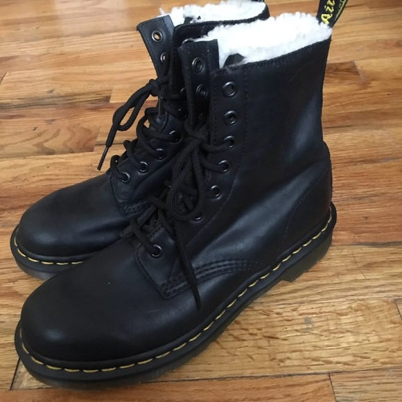 233e28a52c515 Dr. Martens Shoes | Dr Marten Serena Fur Lined 8 Eye Boots | Poshmark